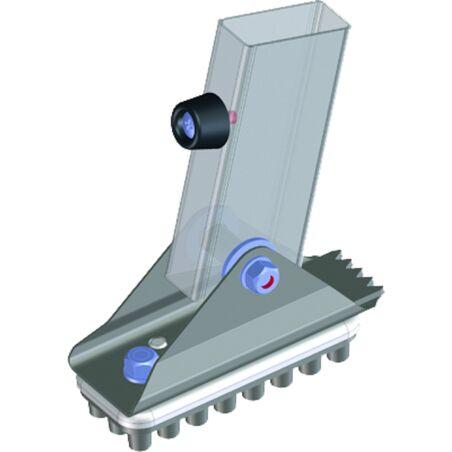 Поворотная ножка с резиновой накладкой 125 x 50 мм #1