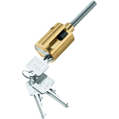 Цилиндрический замок на стальном профиле для защиты от взлома, включая 3 ключа #1