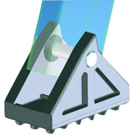Поворотная ножка с резиновой накладкой 100 x 55 мм #1