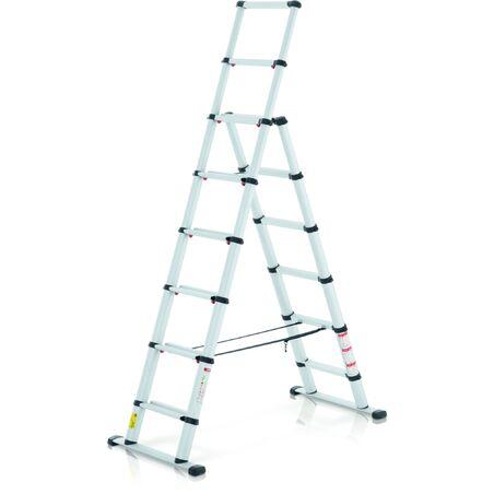 Телескопическая комбинированная лестница #1