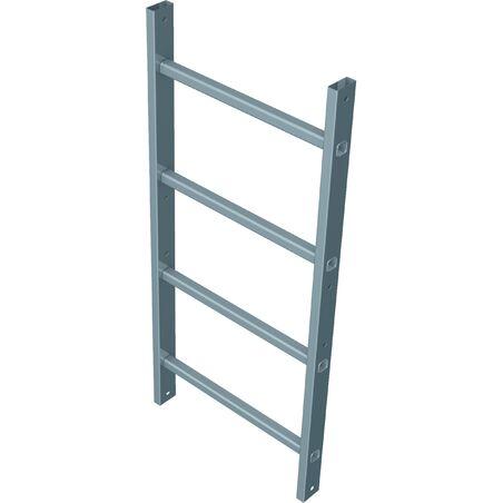 Настенные лестницы, анодированный алюминий #1