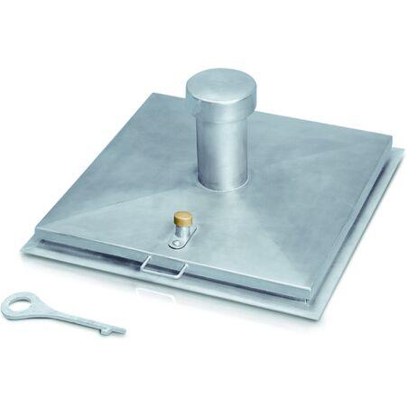 Колодезная крышка, квадратная форма, с вентиляционной трубой #1