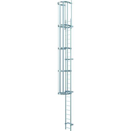 Односекционные настенные лестницы, высота подъема до 10 м, анодированный алюминий #1